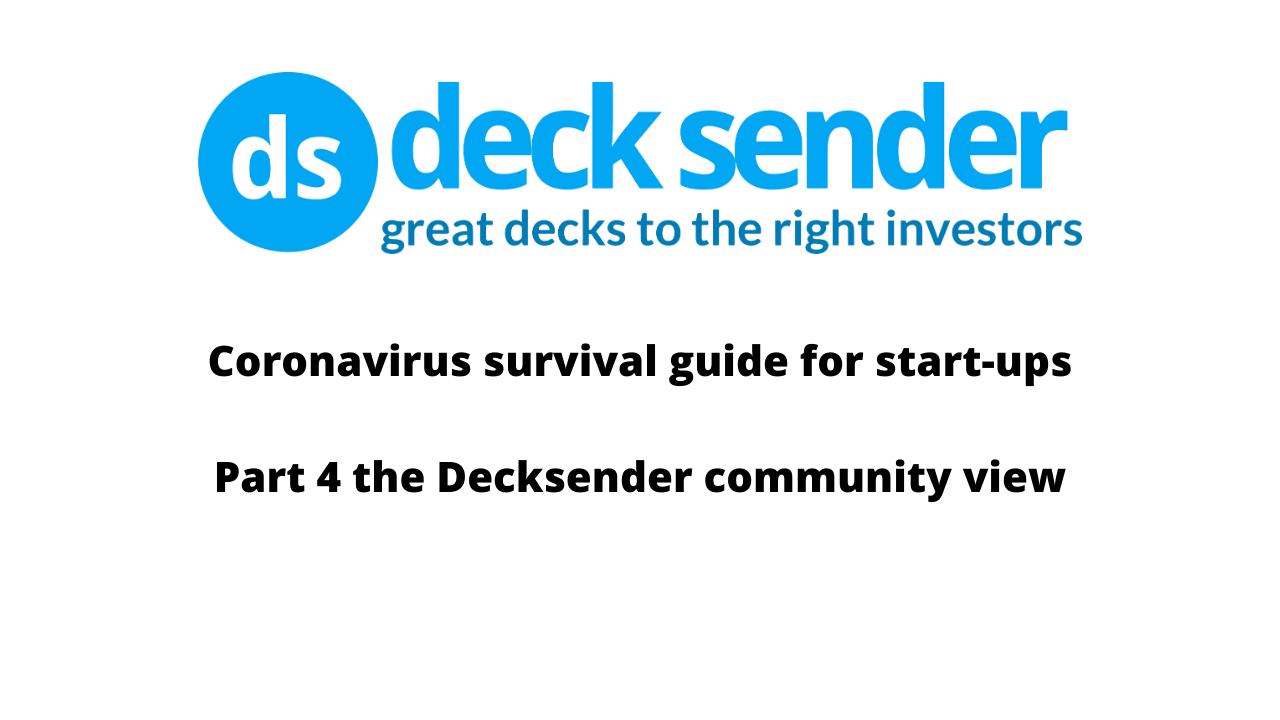 corona virus start survival guide part 4